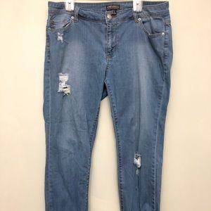 Forever 21 Plus Boyfriend Jeans